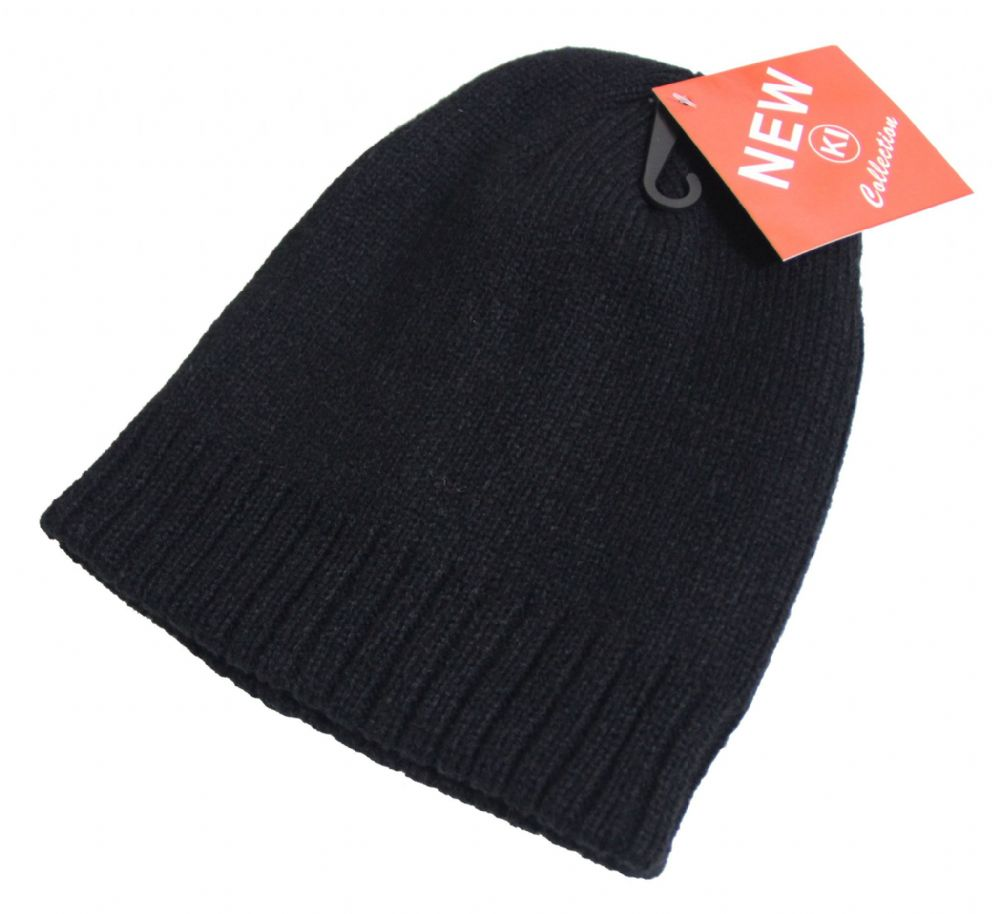 Unisex black beanie hat  thermal beanie winter hat